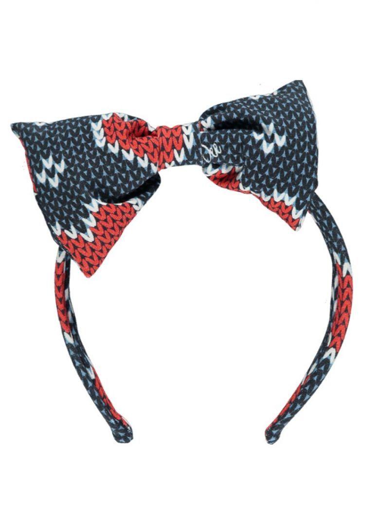A Dee Heart Bow Headband Navy