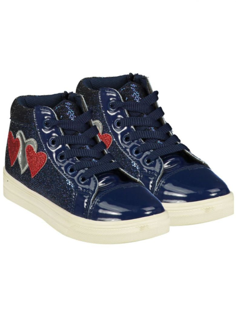 A Dee Hearts Lace Up High Tops Navy