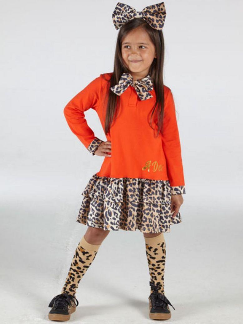 A Dee Tammy Leopard Print Dress Orange