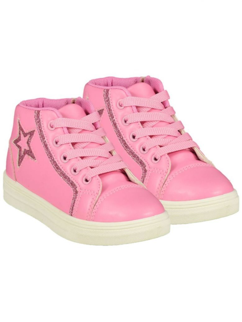 A Dee Star Lace Up High Top Pink