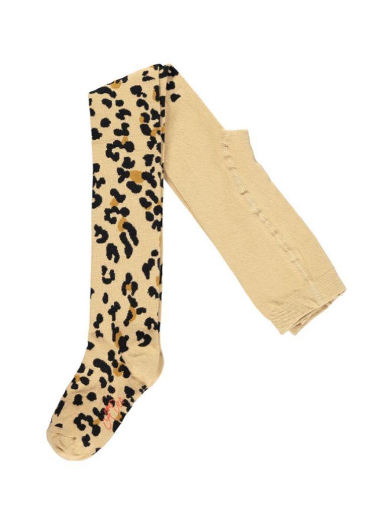 A Dee Tamara Leopard Print Tights Brown