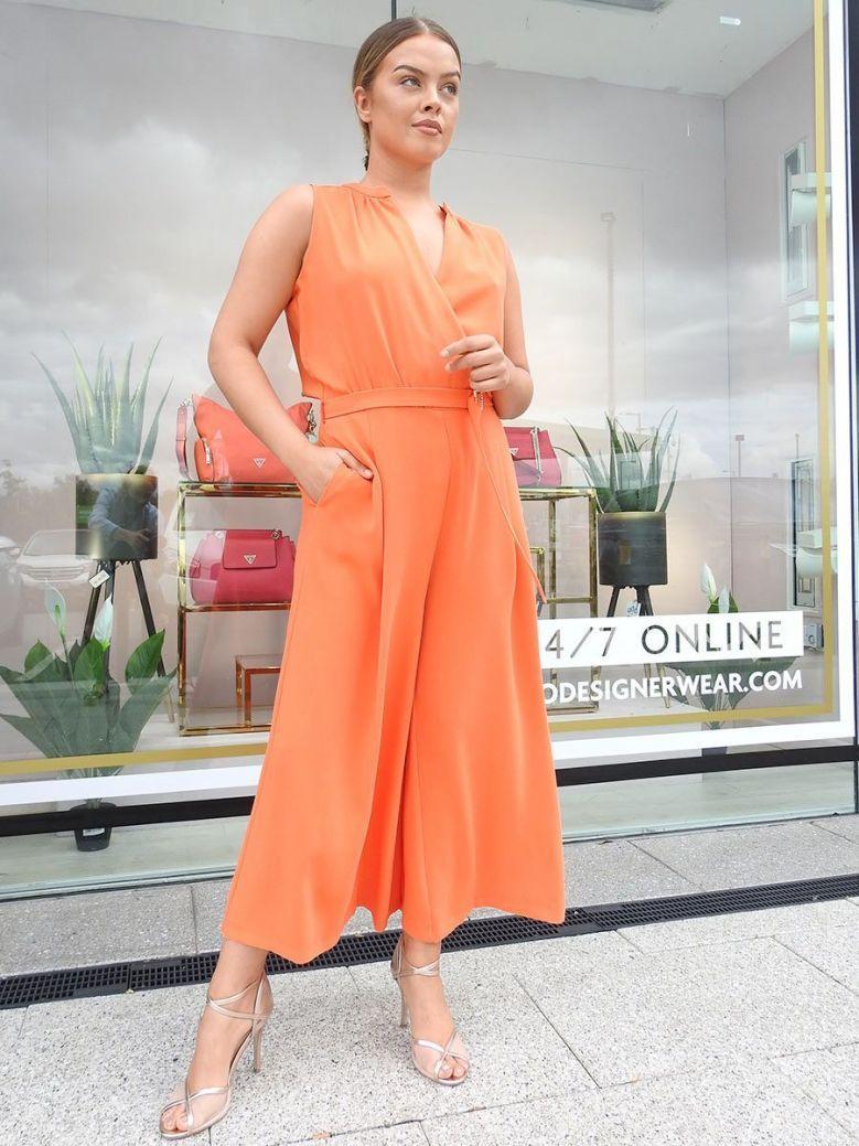 Access Wide Leg Jumpsuit Orange