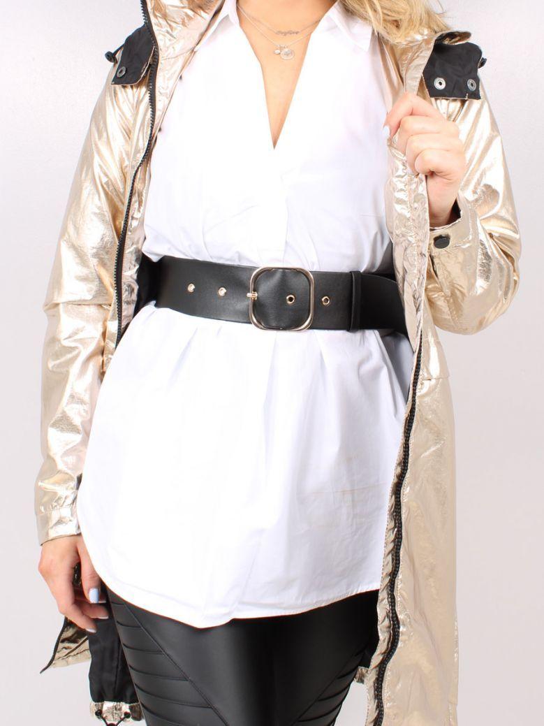 Rino & Pelle Black Faux Leather Belt