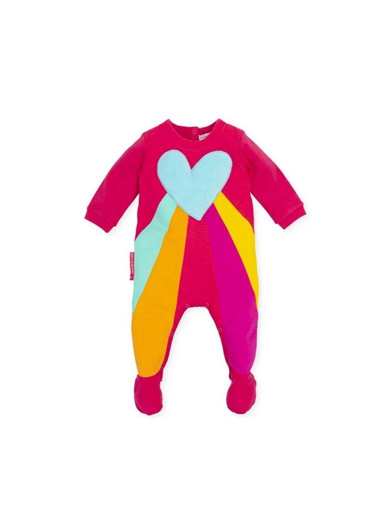 Agatha Ruiz Rainbow Heart Babygrow Pink