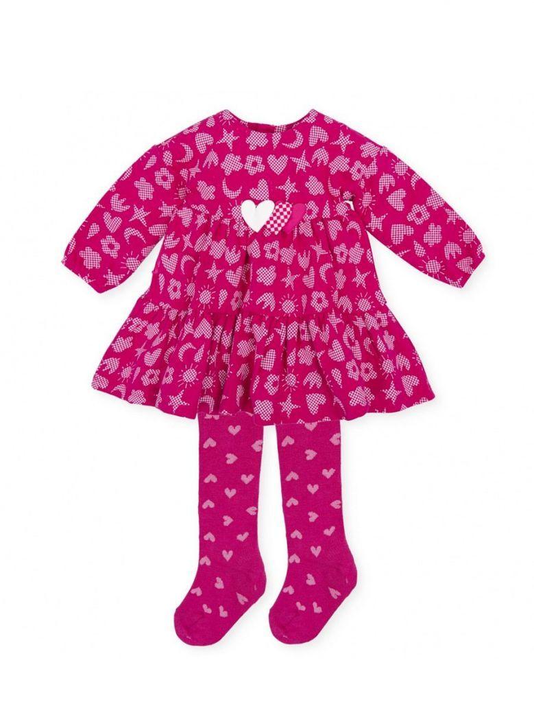 Agatha Ruiz Luna Dress and Tights Set Pink