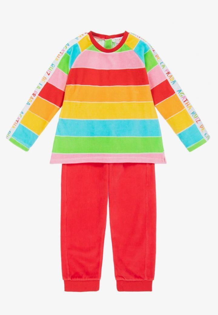 Agatha Ruiz Rainbow Stripe Tracksuit Multi