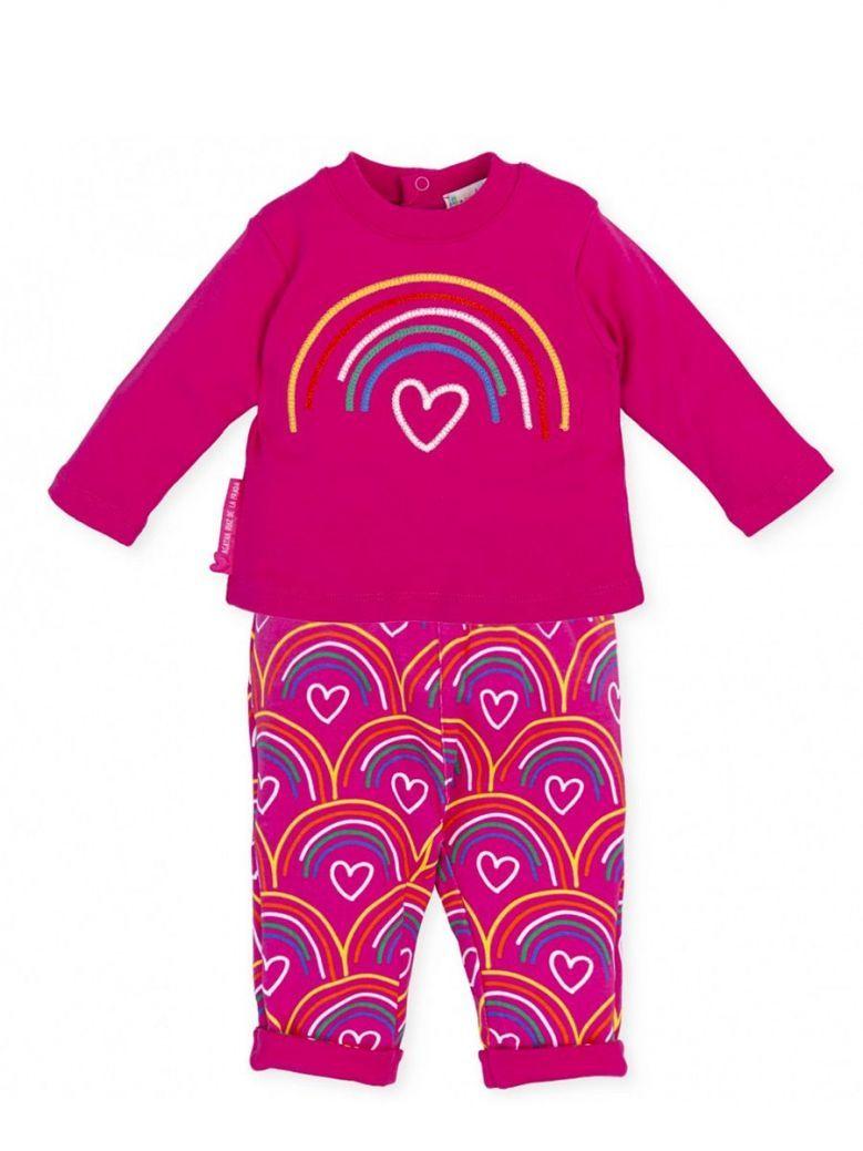 Agatha Ruiz Rainbow Top and Leggings Set Pink