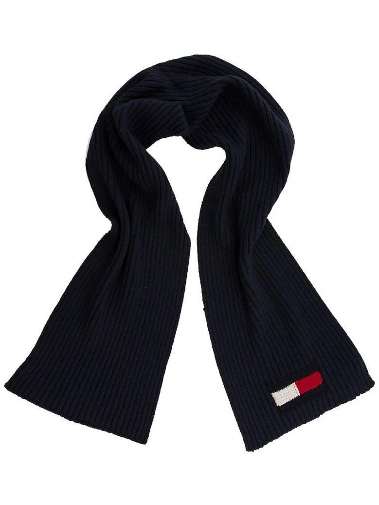 Tommy Hilfiger Navy Flag Chunky Knit Scarf