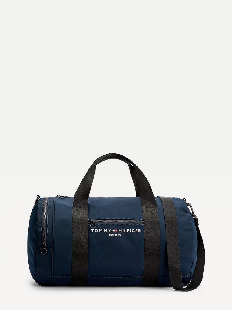 Tommy Hilfiger Men Desert Sky TH Established Logo Duffel Bag