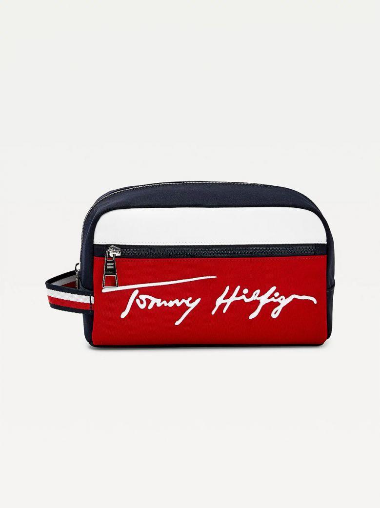 Tommy Hilfiger Men Desert Sky Signature Side Handle Wash Bag