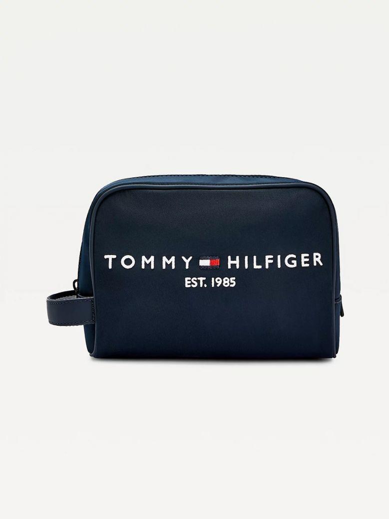 Tommy Hilfiger Men Desert Sky TH Established Logo Wash Bag