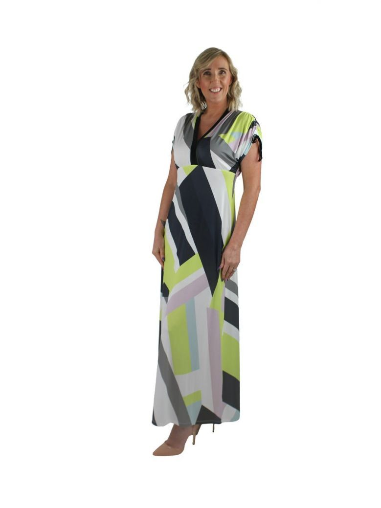 Eight By Access Multi Printed Long Flowing Dress
