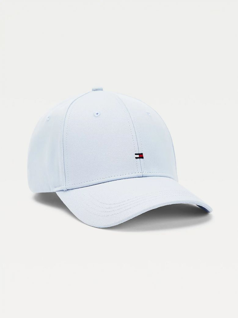 Tommy Hilfiger Sweet Blue Flag Embroidery Baseball Cap