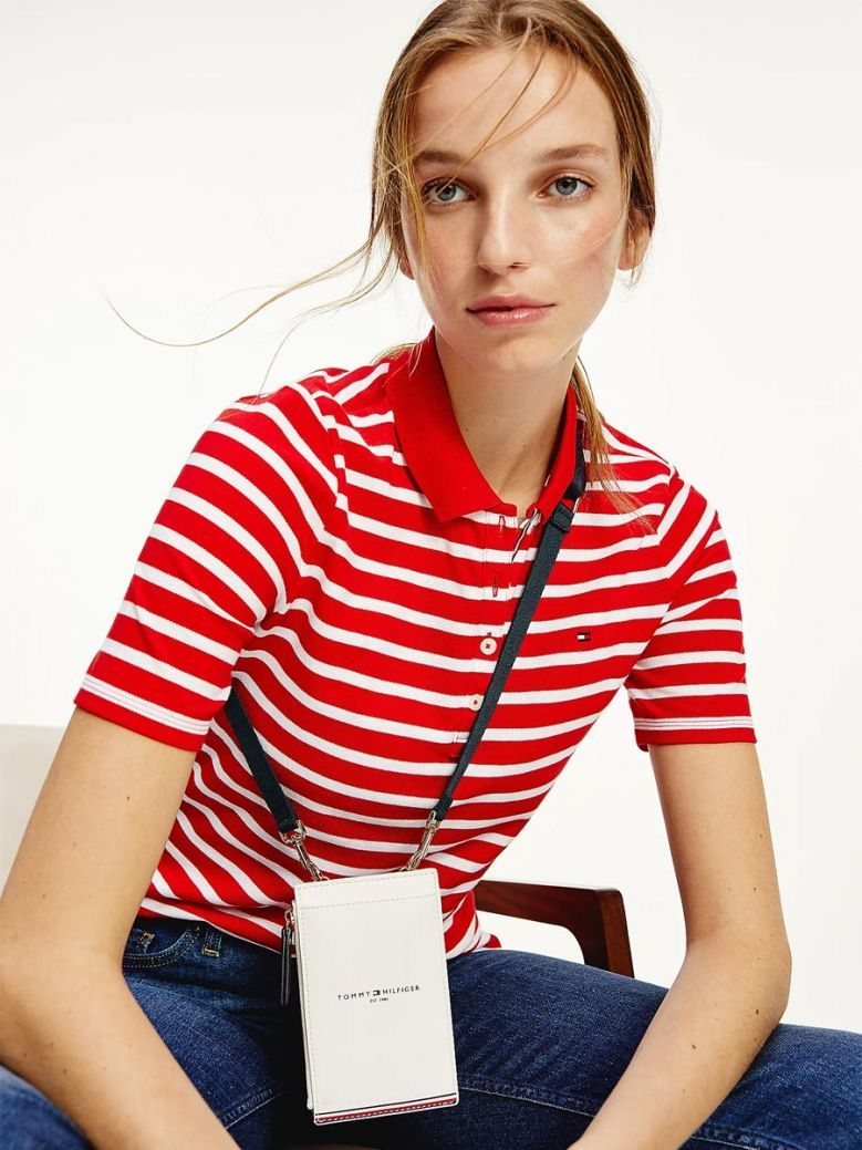 Tommy Hilfiger Bright White Crossover Phone Wallet