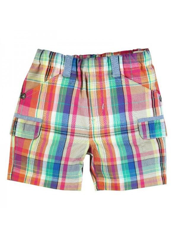Boboli Multi Coloured Checked Shorts