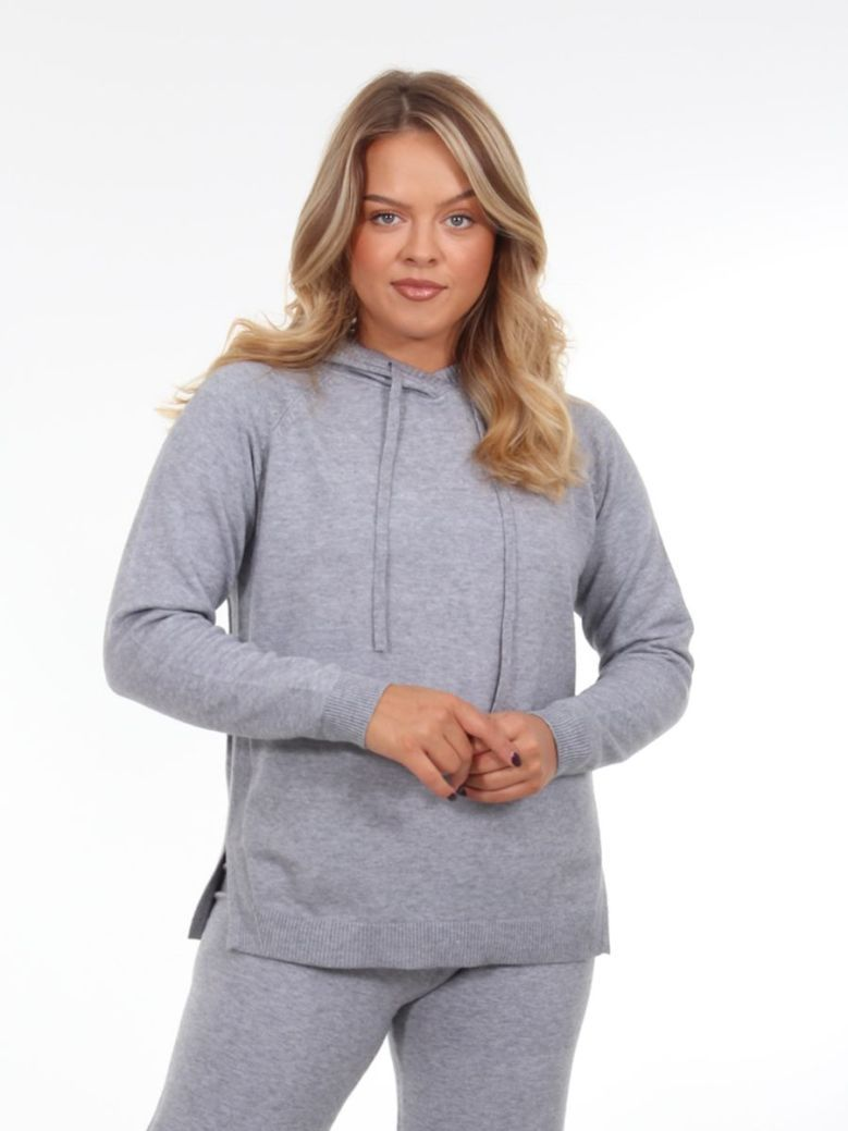 Betty Barclay Mixed Knit Hoody Grey