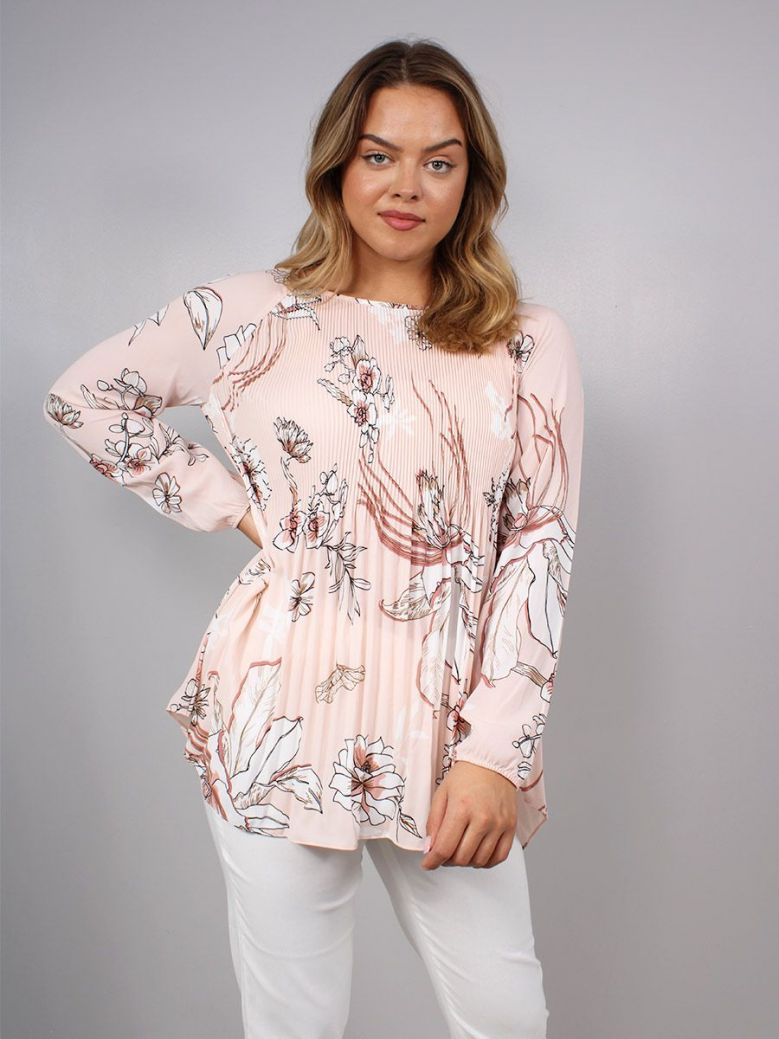 Betty Barclay Pleated Detail Blouse Pink