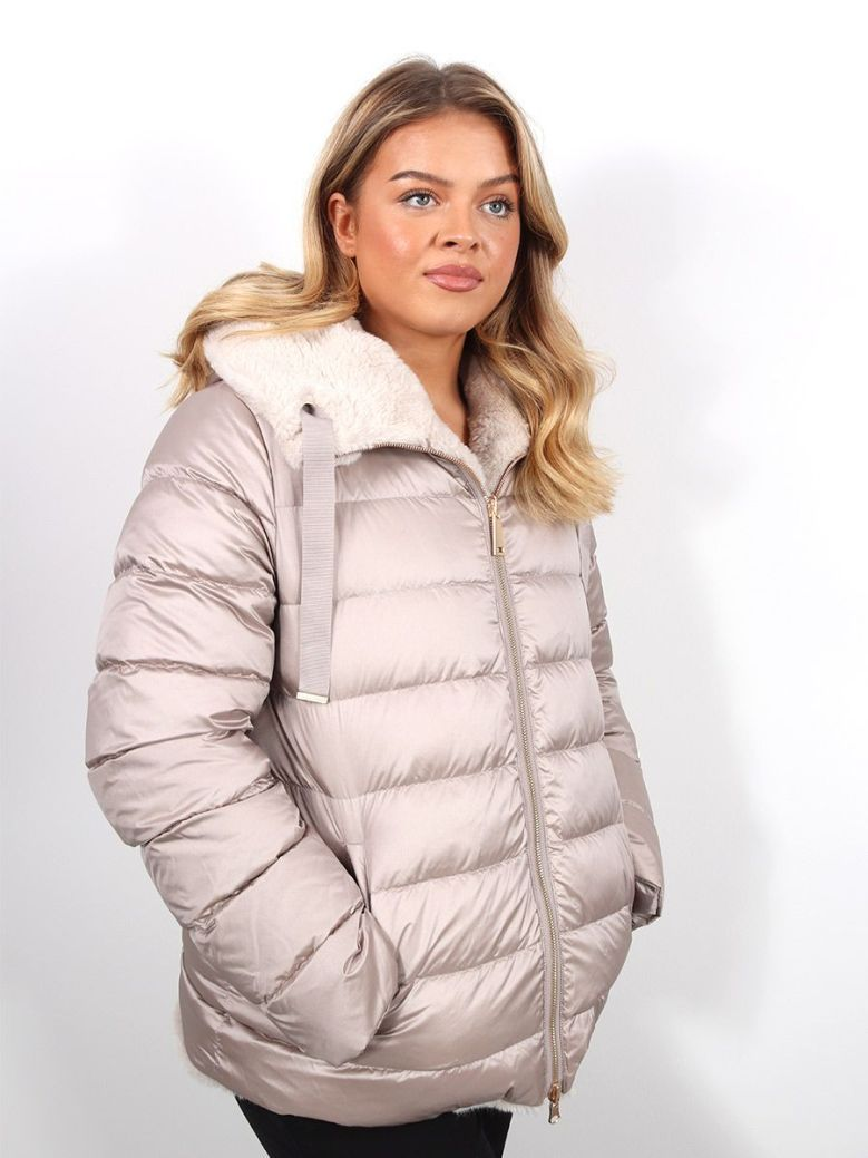 Betty Barclay Reversible Quilted Coat Taupe