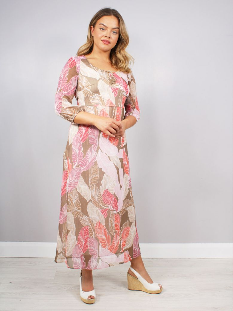 Bianca Daena 3/4 Sleeve Printed Dress Multi