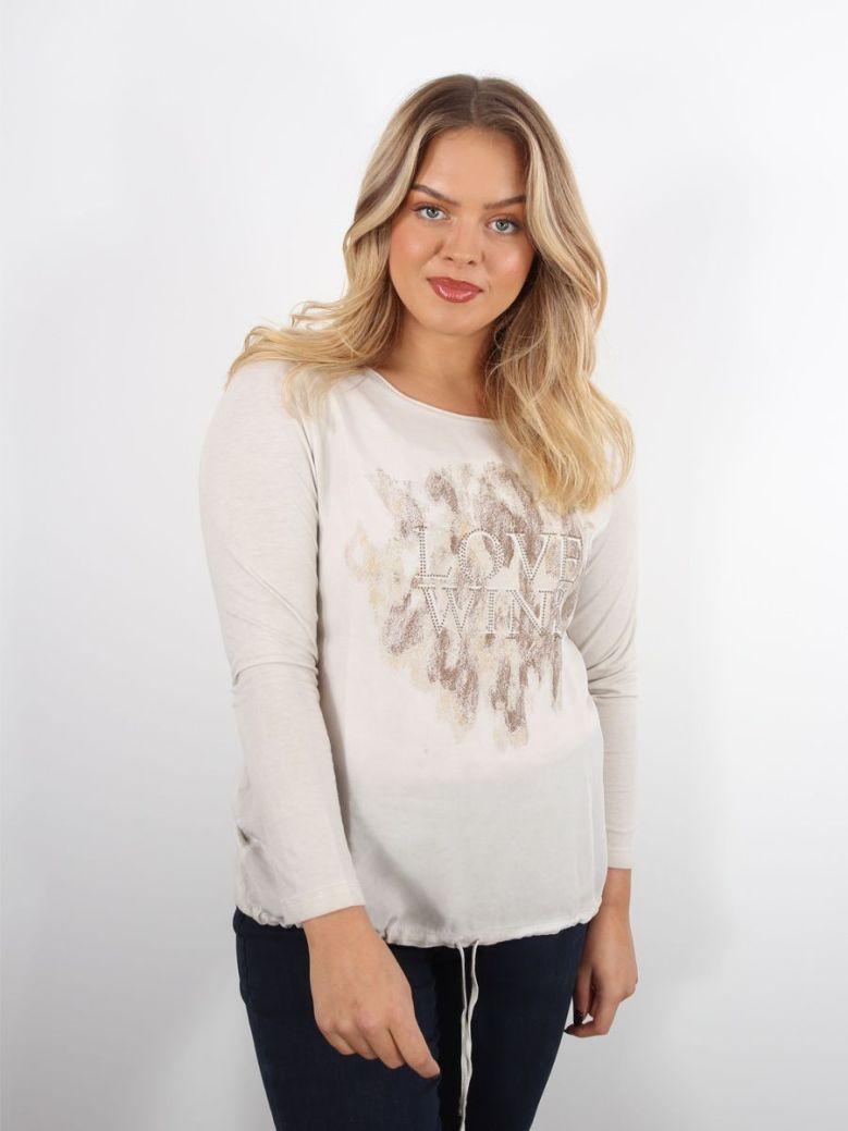Bianca Dami 'Love Wins' Long Sleeve T-Shirt Natural