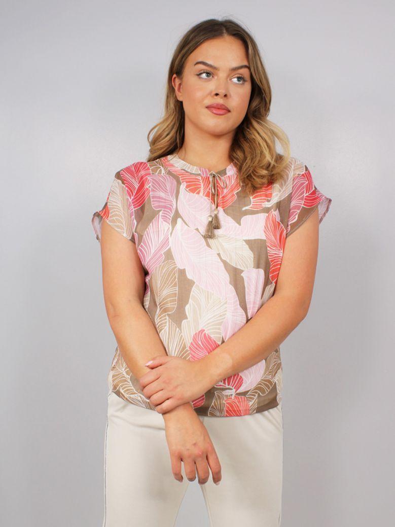 Bianca Fleni Printed Short Sleeved Top Multi
