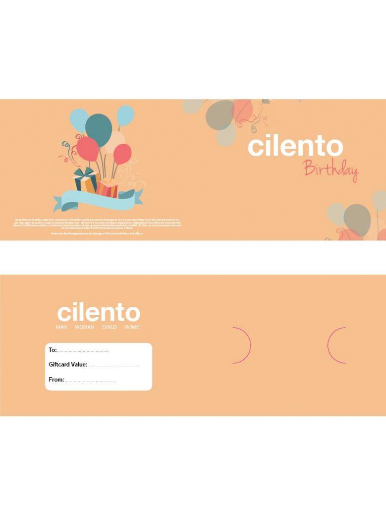 Cilento Designer Wear Birthday Gift Card