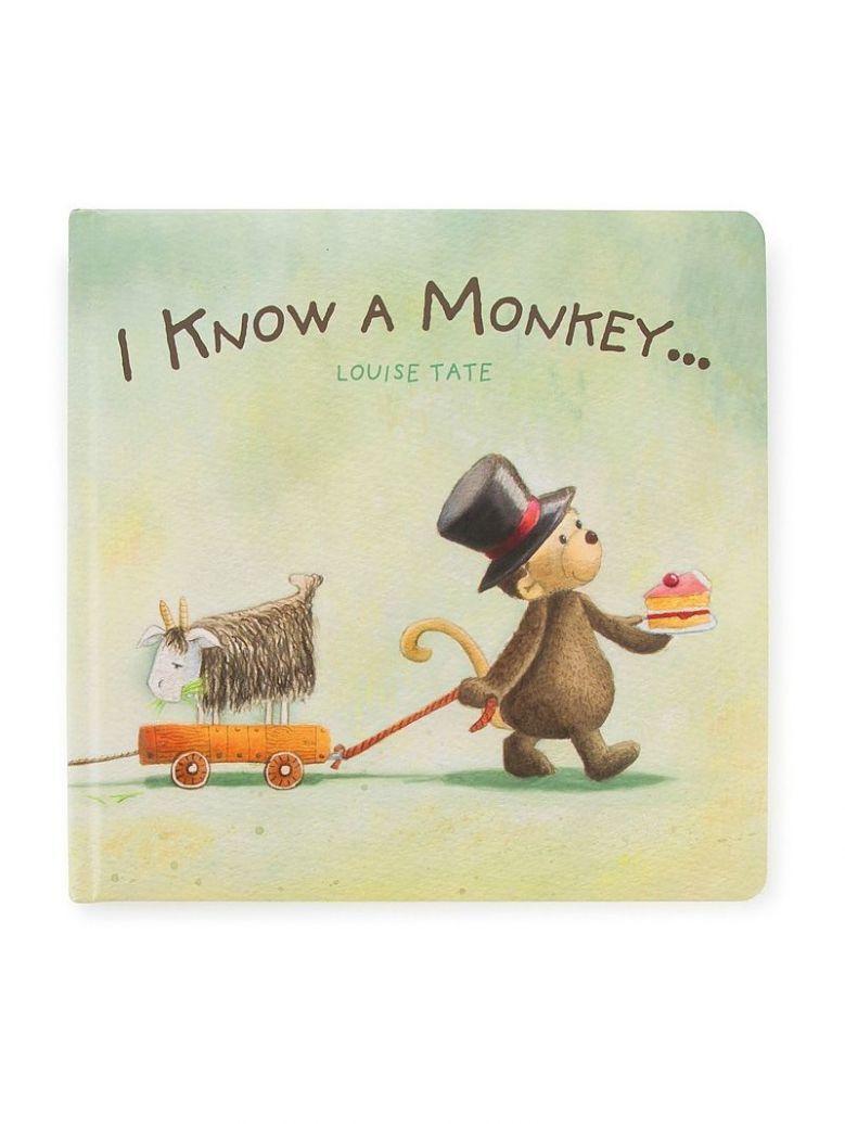 Jellycat 'I Know A Monkey' Book