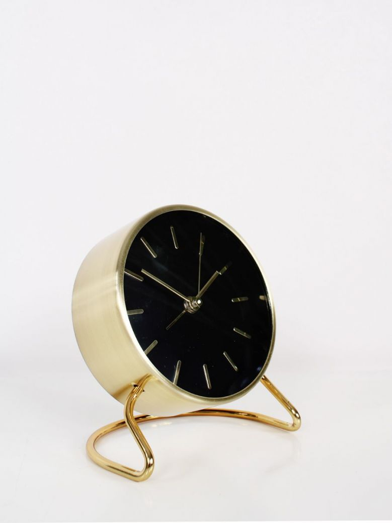 Black and Gold Alarm Clock