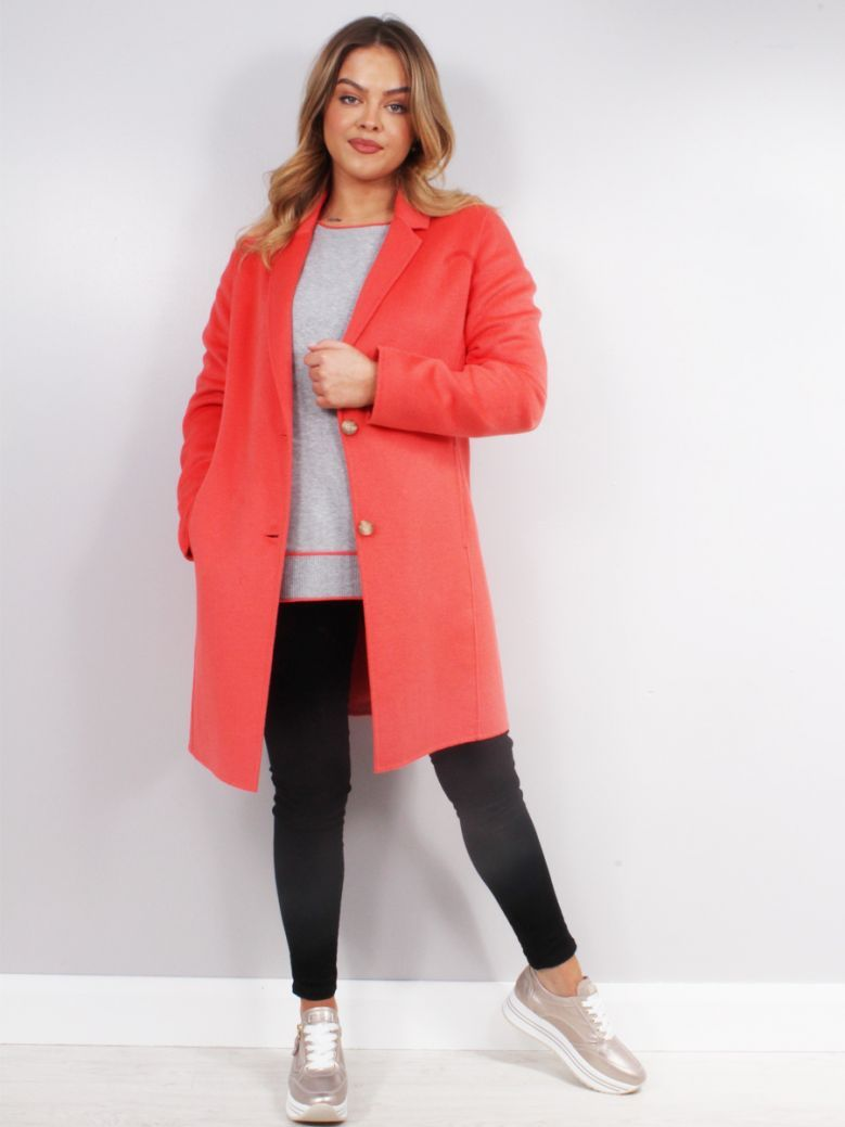 Beaumont Coral Blazer Style Wool Coat