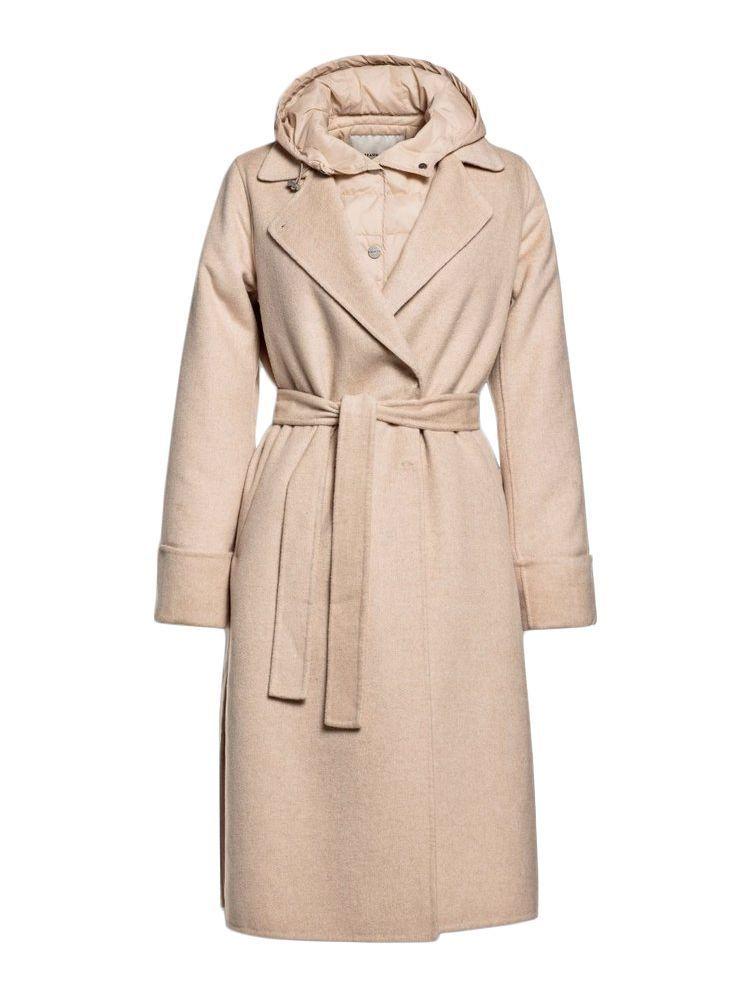 Beaumont Melange Wool Combination Coat