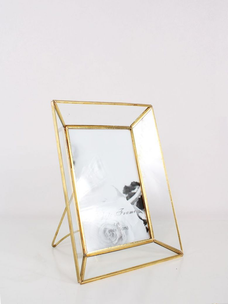 Brass and Glass Photo Frame 4x6
