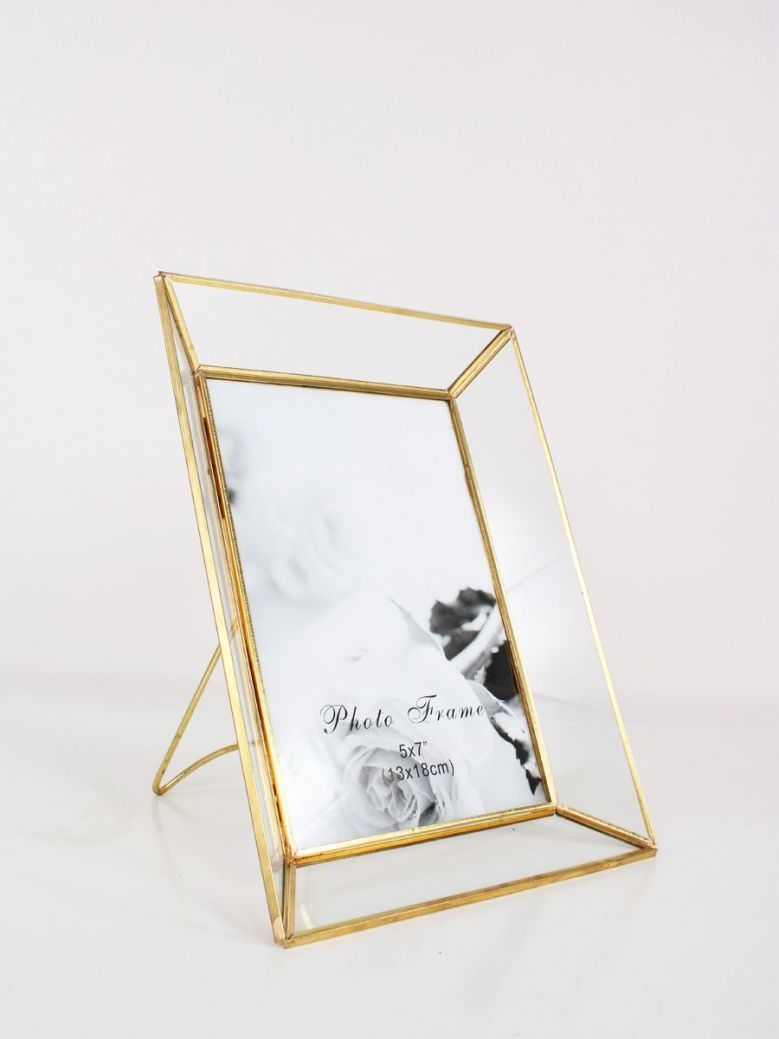 Brass and Glass Photo Frame 5x7