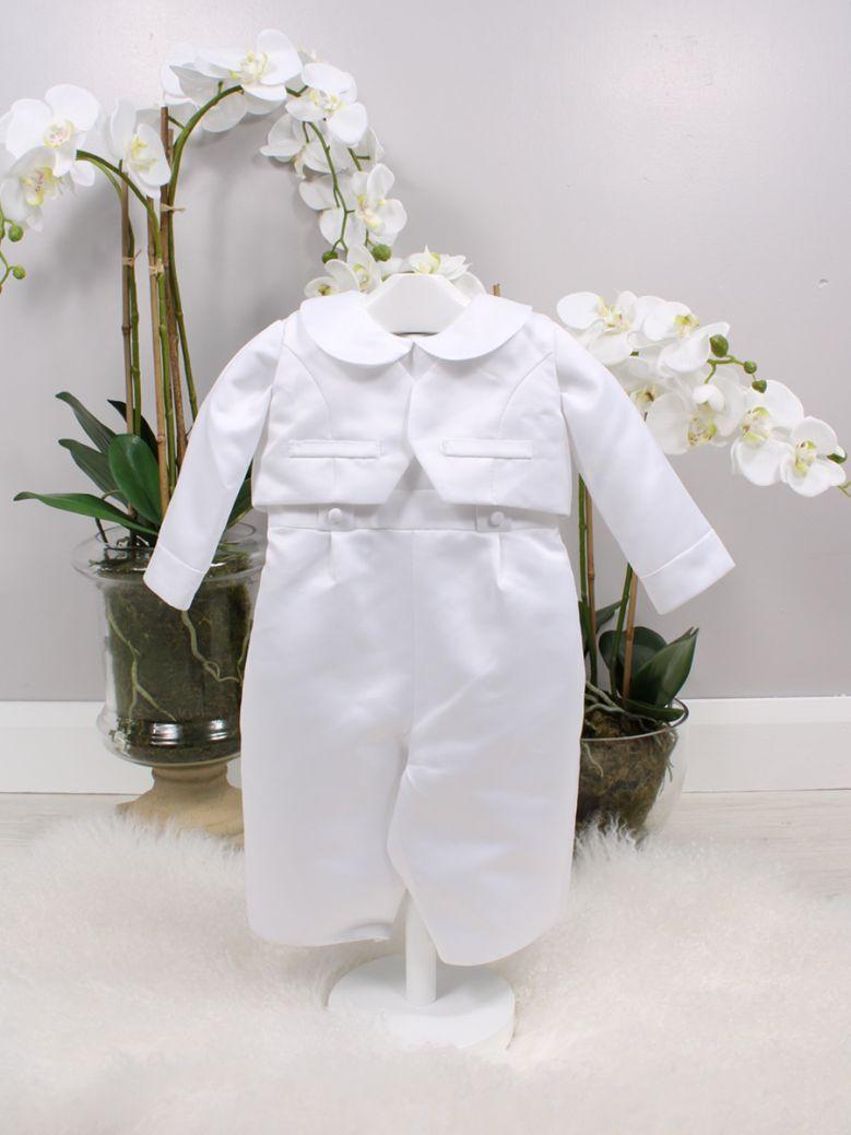 Poinsettia White Harry Christening Suit