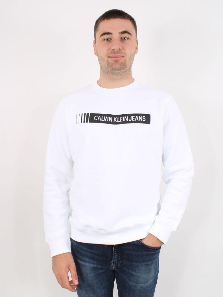 Calvin Klein Industrial Logo Sweatshirt White