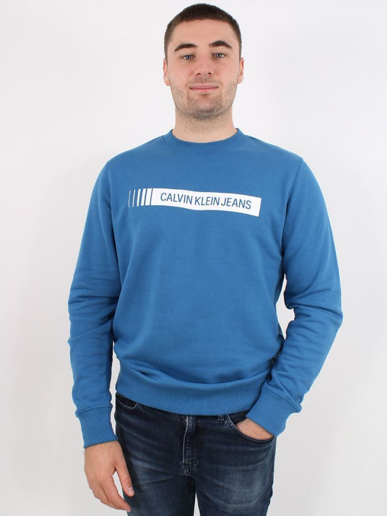 Calvin Klein Industrial Logo Sweatshirt Blue
