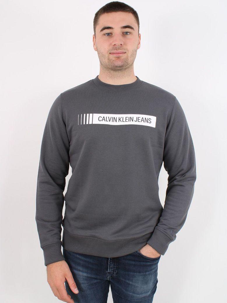 Calvin Klein Industrial Logo Sweatshirt Grey