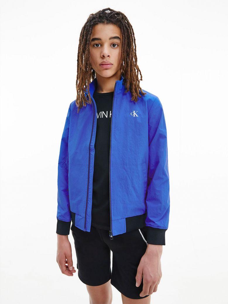 Calvin Klein Jeans Recycled Nylon Bomber Jacket Blue