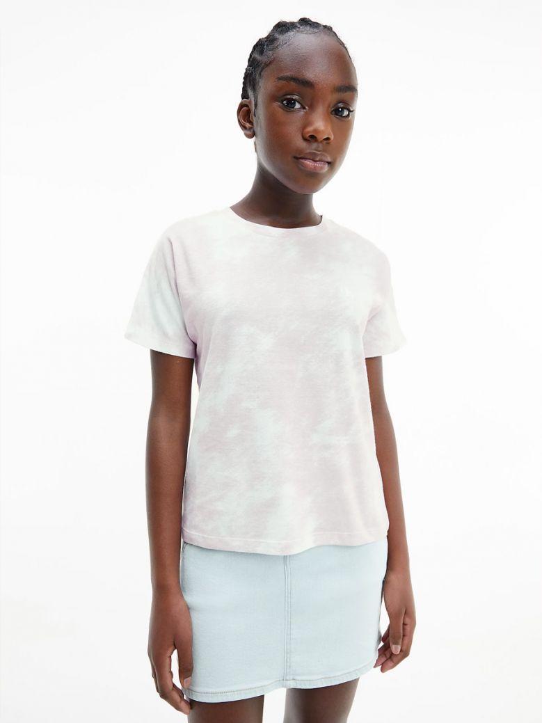 Calvin Klein Jeans Organic Cotton Cloud Print T-Shirt Pink