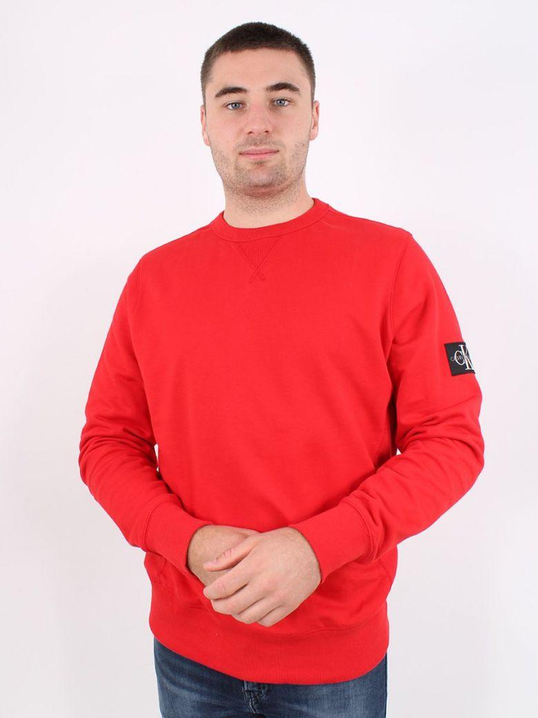 Calvin Klein Jeans Mens Red Sweatshirt