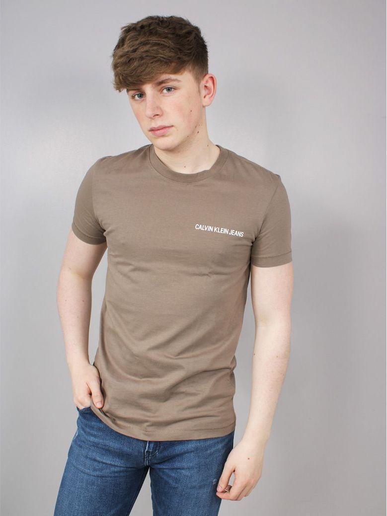 Calvin Klein Jeans Muscle Fit Logo T-Shirt Brown