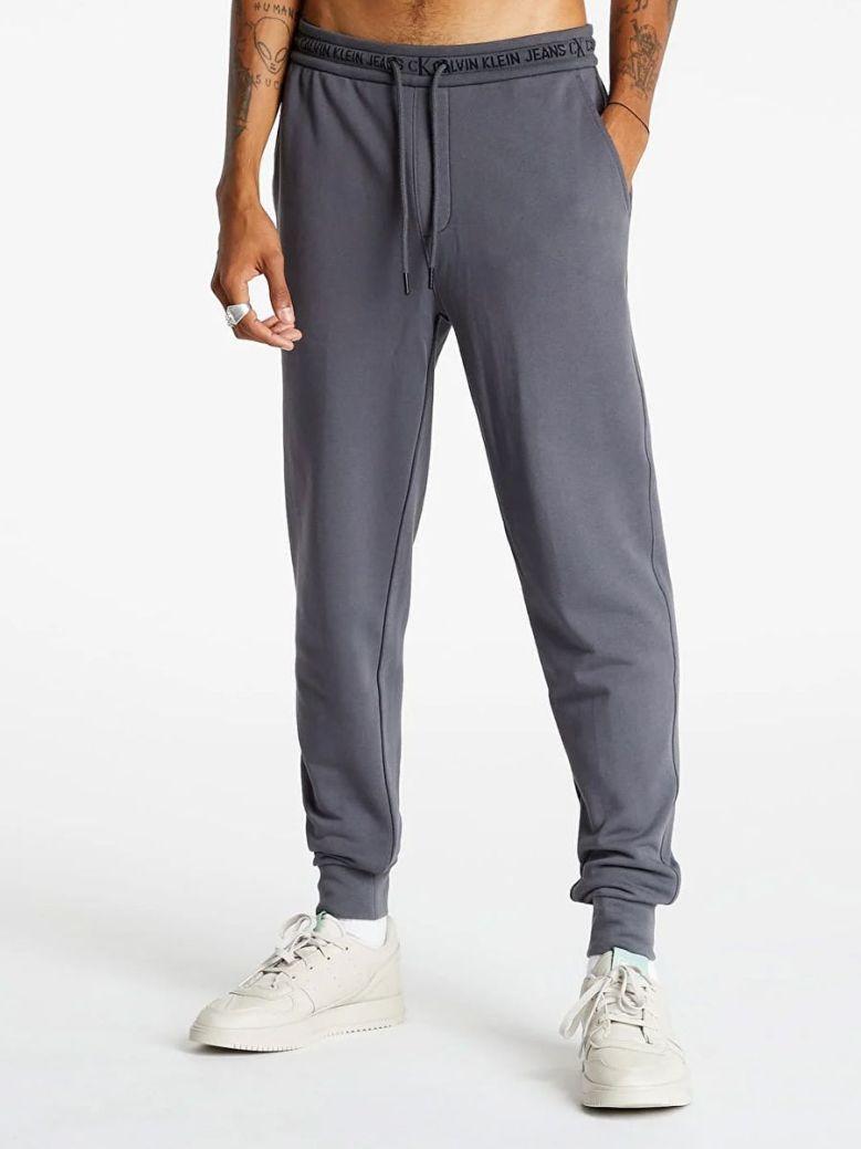 Calvin Klein Jeans Organic Cotton Logo Waistband Joggers Grey
