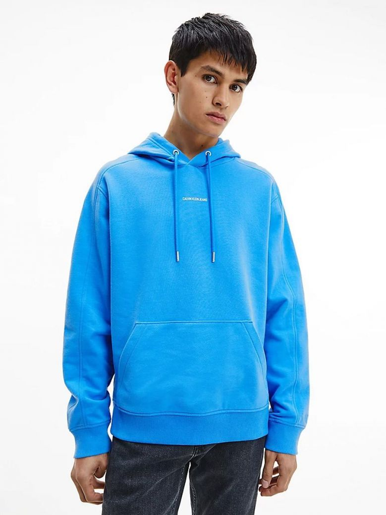 Calvin Klein Jeans Relaxed Organic Cotton Hoodie Blue