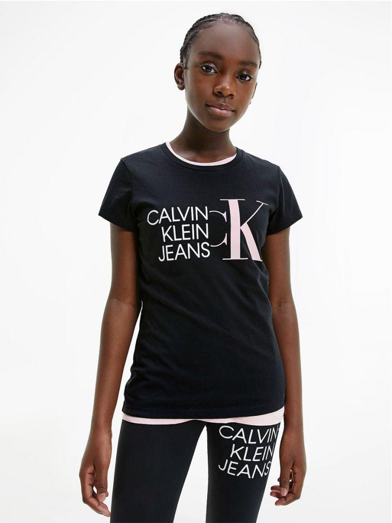 Calvin Klein Jeans Slim Organic Cotton Logo T-Shirt Black