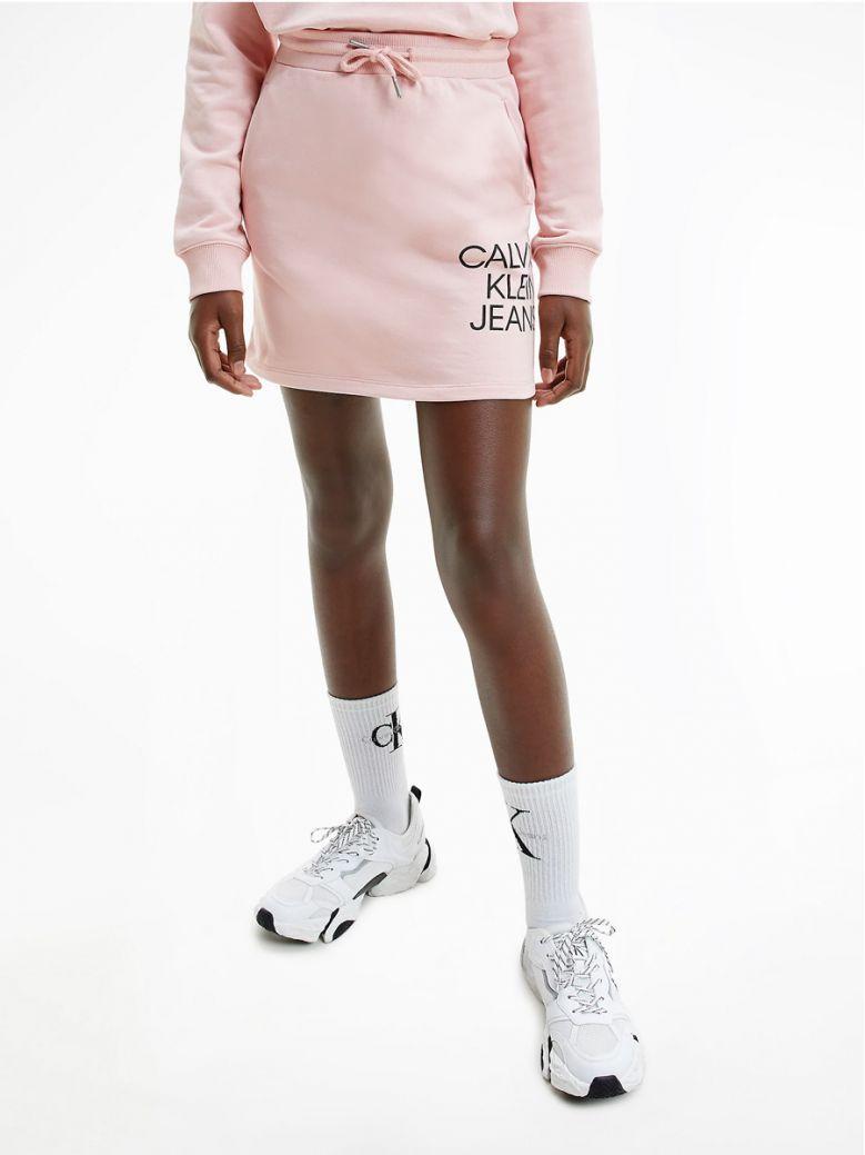 Calvin Klein Jeans Organic Cotton Terry Mini Skirt Pink