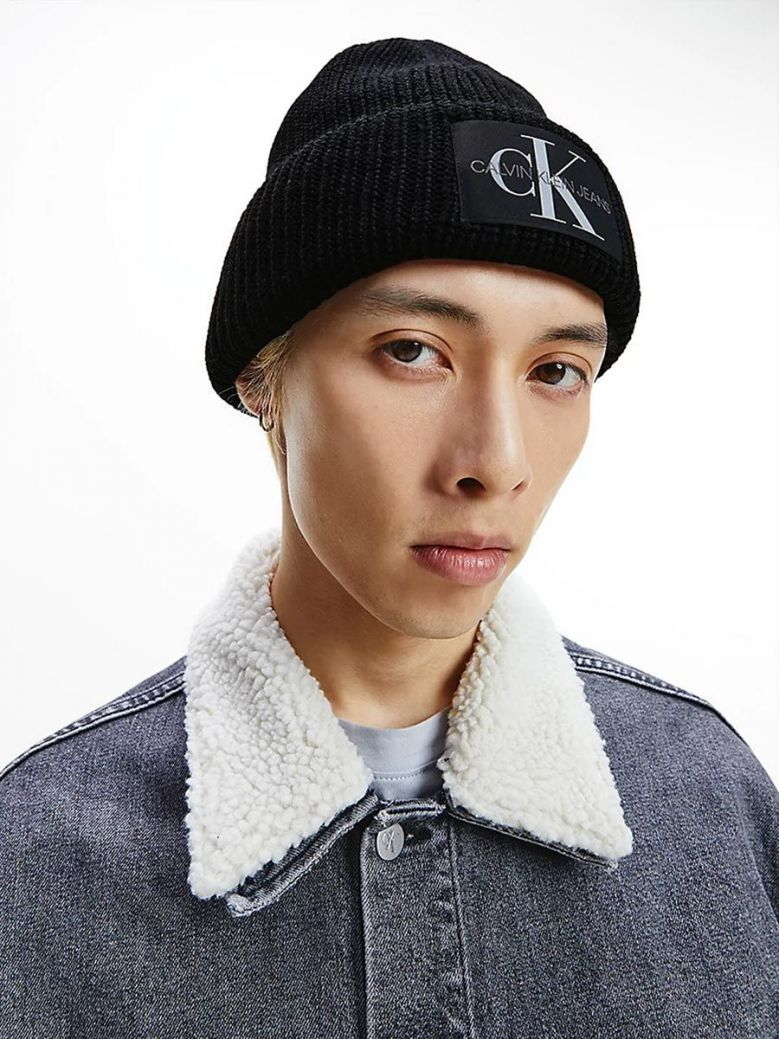 Calvin Klein Wool Blend Beanie Black
