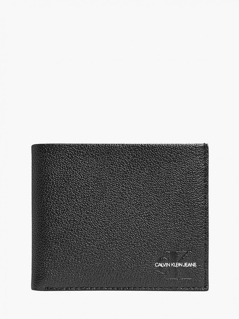 Calvin Klein Jeans Leather Billfold Wallet Black