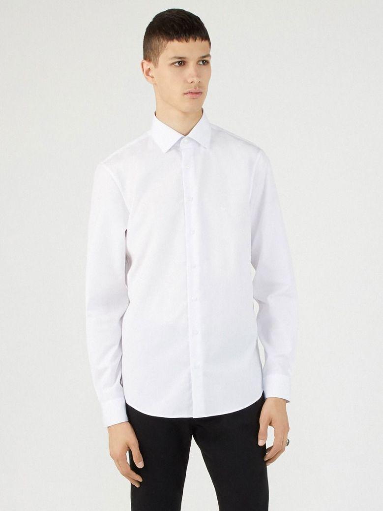Calvin Klein White Easy Iron Fitted Shirt