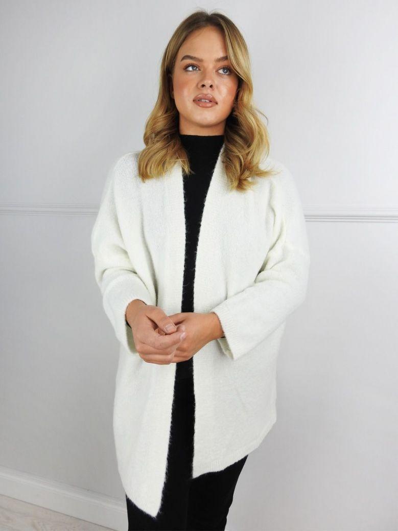 Cilento Woman Cream Open Cardigan