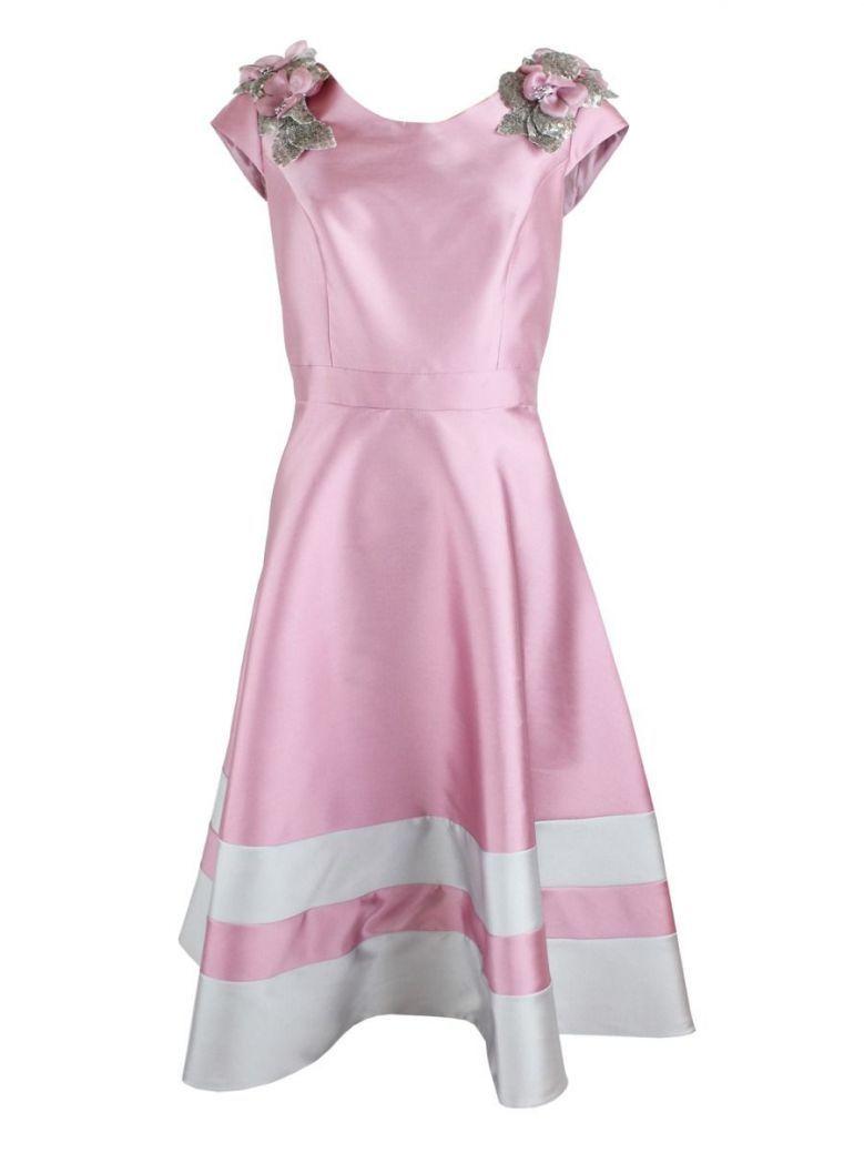 Carla Ruiz Embellished Shoulder Dress, Rose, Style 94798