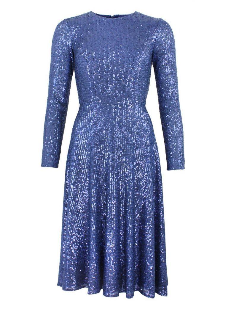 Carla Ruiz Sequin Midi Dress, Blue, Style 96096